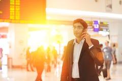 Mâle indien sur le terminal d'aéroport Images libres de droits