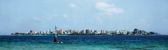 Mâle le capital des Maldives photo stock