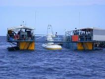 MÂLE, MALDIVES - 30 AOÛT 2003 : Plan rapproché de yacht de voile. Indien Oce Photographie stock