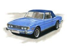 Mâle MkII de Triumph illustration stock