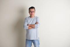 Mâle supérieur asiatique dans occasionnel Photo libre de droits