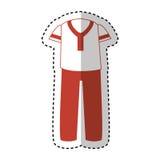 Mâle typique de costume de latin illustration libre de droits