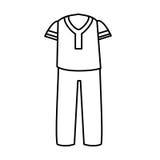 Mâle typique de costume de latin illustration stock