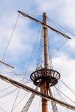 Mât d'un bateau de pirate Image stock