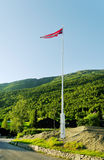 Mât de drapeau avec l'indicateur. Photographie stock