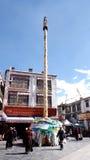 Mât de drapeau de prière Photographie stock libre de droits