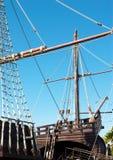 Mât de misaine et cordage de bateau Photos stock