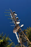 Mât de télécommunication. Images stock