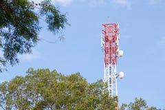 mât de télécommunication Images libres de droits