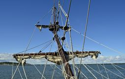 Mât grand de bateau Photos libres de droits