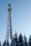 Mât par radio en hiver Photo libre de droits