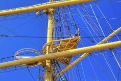 Mâts de bateau de navigation Photos stock