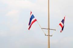 Mâts de drapeau de la Thaïlande Image stock