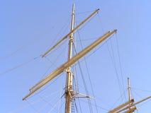 Mâts de vieux bateaux image libre de droits