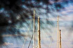 Mâts de voilier Photographie stock