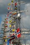 Mâts des bateaux grands Photographie stock libre de droits