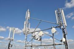 Mâts et antenne Photographie stock