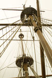 Mâts et calage de Ship?s Image libre de droits