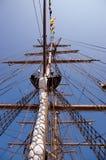 Mâts grands de bateau Image libre de droits