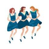 Mädchen, die Schritttanz durchführen lizenzfreies stockfoto