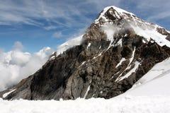 Mönch山在Bernese阿尔卑斯在瑞士 库存照片