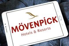 Mövenpick hotell- och semesterortlogo Arkivfoton