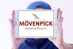 Mövenpick hotell- och semesterortlogo Fotografering för Bildbyråer