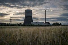 "MÃœLHEIM-KÃ ""RLICH, DUITSLAND, 30 JUNI, 2017: Diseused kernenergiepost MÃœLHEIM-KÃ ""RLICH Royalty-vrije Stock Afbeelding"