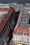MÃ ¼ nzgasse德累斯顿 免版税图库摄影