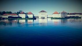 MÃ ¼ το θερινό κάστρο Nymphenburg Στοκ Φωτογραφίες