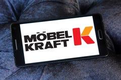 Möbel Kraft logo arkivfoton