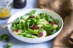 Mâche com salada de Apple e da romã Fotografia de Stock Royalty Free