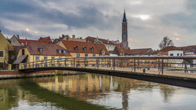 MÃ ¼ hlensteg Landshut Στοκ εικόνα με δικαίωμα ελεύθερης χρήσης