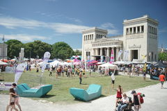 MÃ ¼ nchner Sportfestival 2016 AM Koenigsplatz, Στοκ Φωτογραφία