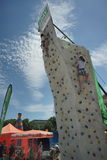 MÃ ¼ nchner Sportfestival 2016 AM Koenigsplatz, Klettern Στοκ εικόνες με δικαίωμα ελεύθερης χρήσης