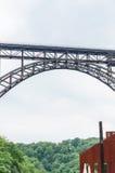 MÃ ¼ ngstener桥梁在索林根,德国 免版税库存图片