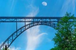 MÃ ¼ ngstener桥梁在索林根,德国 免版税库存照片