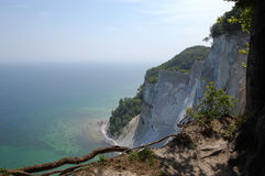 Møns Klint. View from the cliff of chulk, denmark Royalty Free Stock Photos
