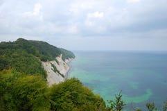 Møns Klint. View from the cliff of chulk, denmark Stock Image