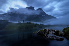 Møre и Romsdal - река Eira Стоковое Изображение