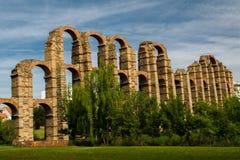 Mérida-Aquädukt Los Milagros Stockbilder