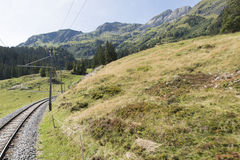 ¼ Mà tschalp†¼ Grà «rren железная дорога горы Стоковое Фото