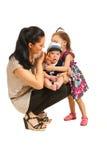 Mãe com duas crianças Imagens de Stock