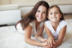 Mãe com filha Foto de Stock