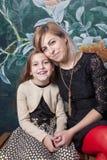 Mãe com filha imagens de stock