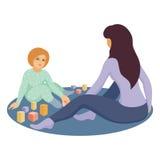 Mãe com a filha Foto de Stock