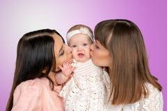 Mãe com filha e tia Fotos de Stock
