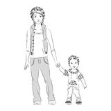 Mãe com filho ilustração stock