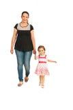Mãe com passeio da menina imagens de stock