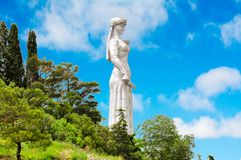 Mãe do monumento de Geórgia em Tbilisi foto de stock royalty free